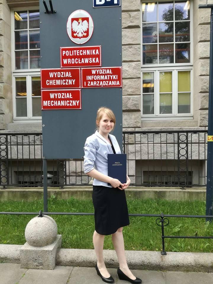 Natalia Pietkiewicz absolwentka Politechniki Wrocławskiej